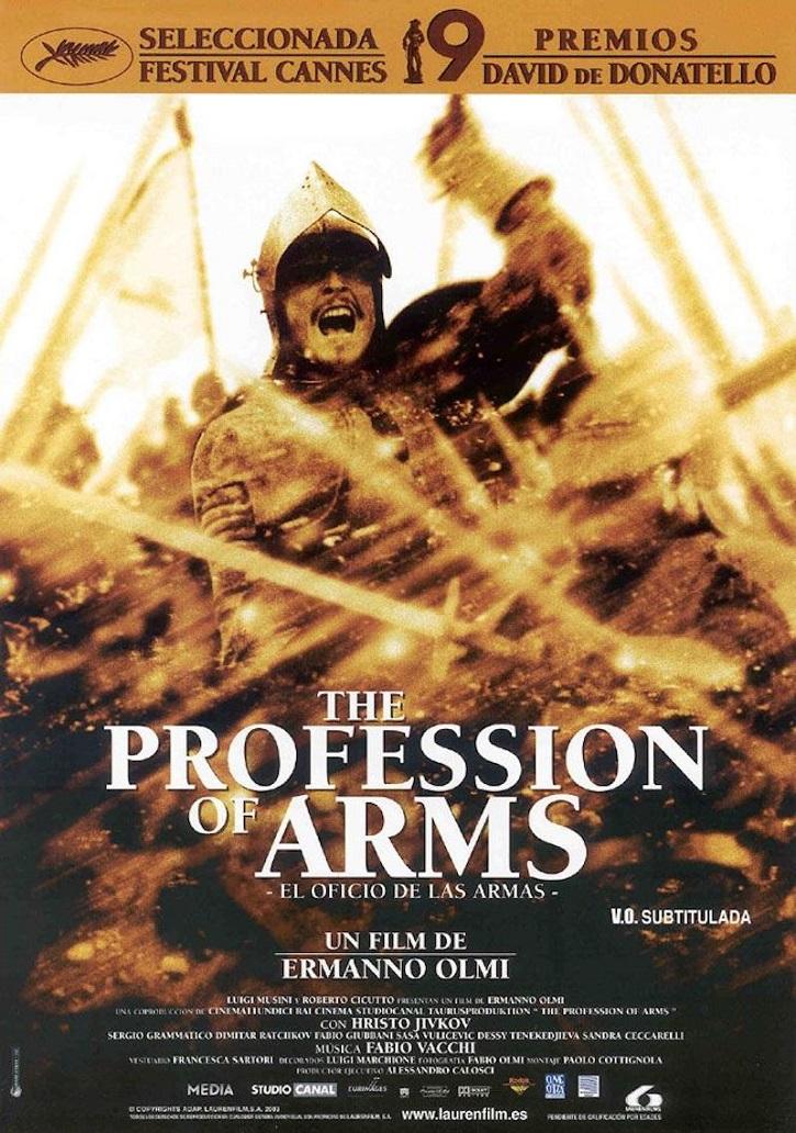 Cartel promocional del filme El oficio de las armas, del cineasta italiano Ermanno Olmi