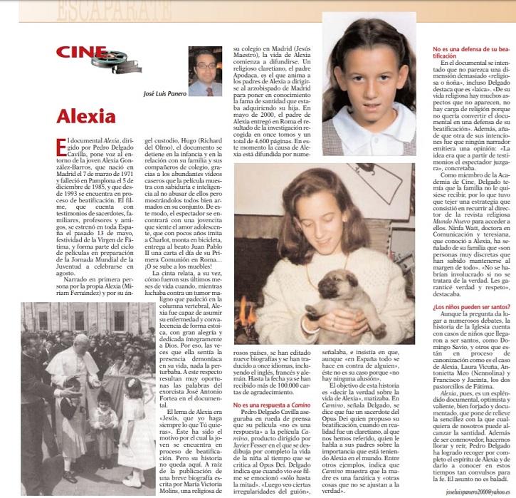Crítica del filme Alexia, dirigido por Pedro Delgado