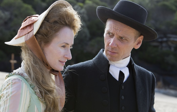 Picture shows: Episode 2. (L-R) Mary Johnson (GENEVIEVE O'REILLY) and Reverend Stephen Johnson (EWEN BREMNER)
