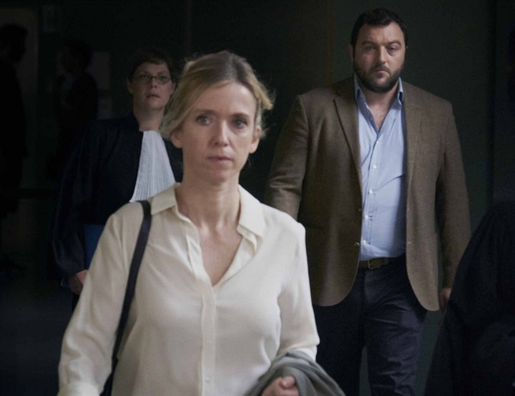 Fotograma del filme de Xavier Legrand, Custodia compartida, con los sólidos interpretes Denis Ménochet y Léa Drucker