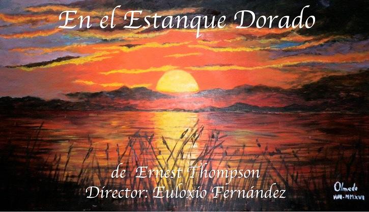 Cartel promocional de la obra de teatro En el estanque dorado, que pondrá en escena el grupo teatral del Ateneo de Pozuelo el próximo 12 de mayo en Daganzo