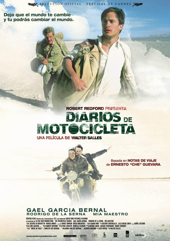 Cartel promocional del filme Diarios de motocicleta, de Walter Salles | Tomás Valero publica 'El mundo actual a través del cine'