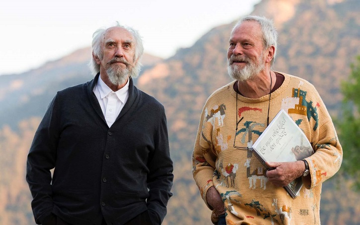 El actor Jonathan Pryce y el director Terry Gilliam, durante el rodaje | Cannes dice sí a El hombre que mató a Don Quijote