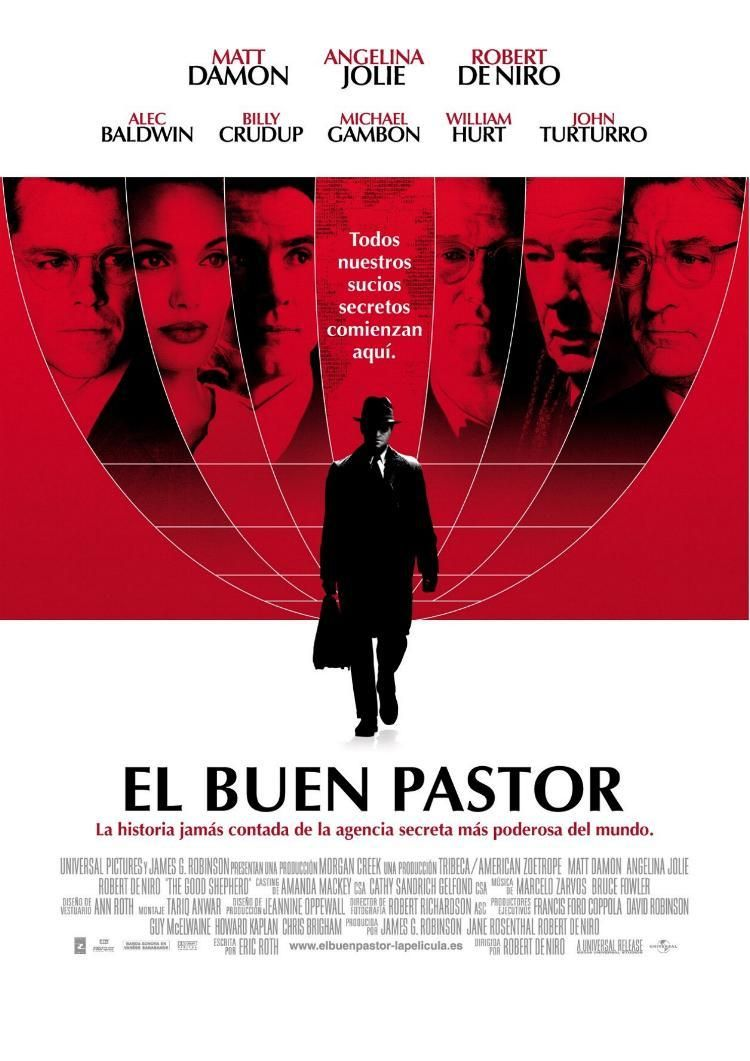 Cartel promocional del filme El buen pastor, de Robert De Niro | Tomás Valero publica 'El mundo actual a través del cine'