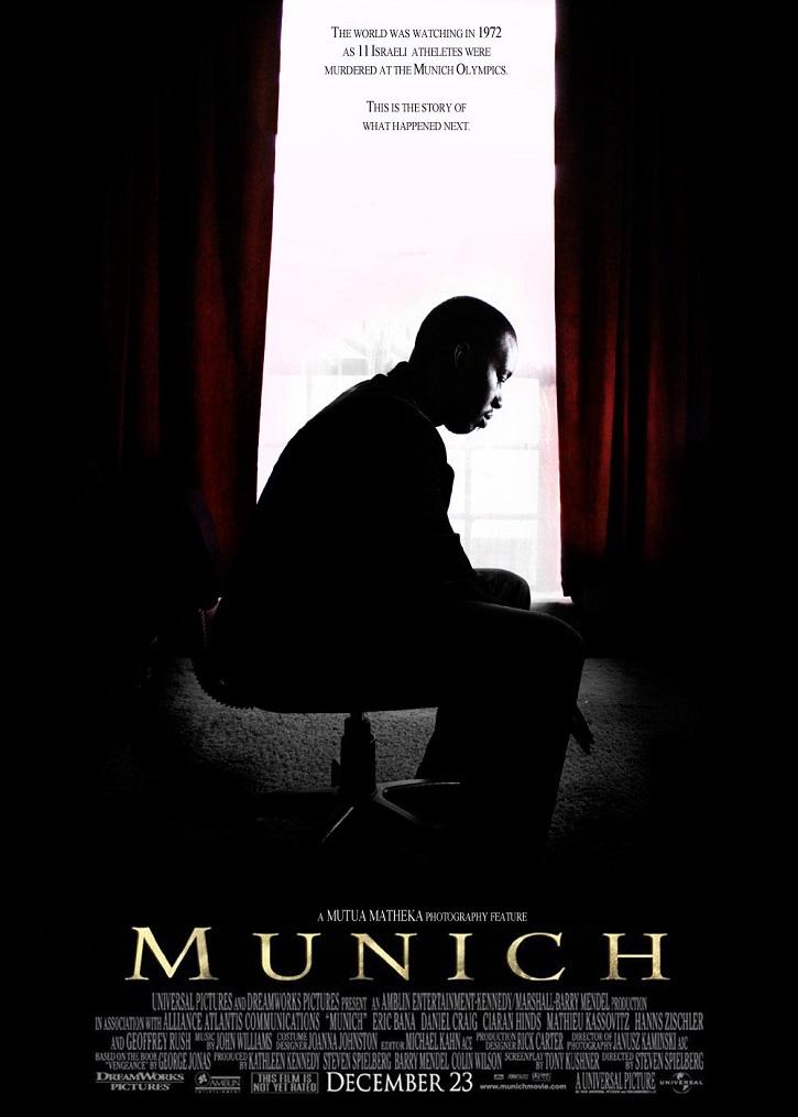 Cartel promocional del filme Munich, de Steven Spielberg | Tomás Valero publica 'El mundo actual a través del cine'