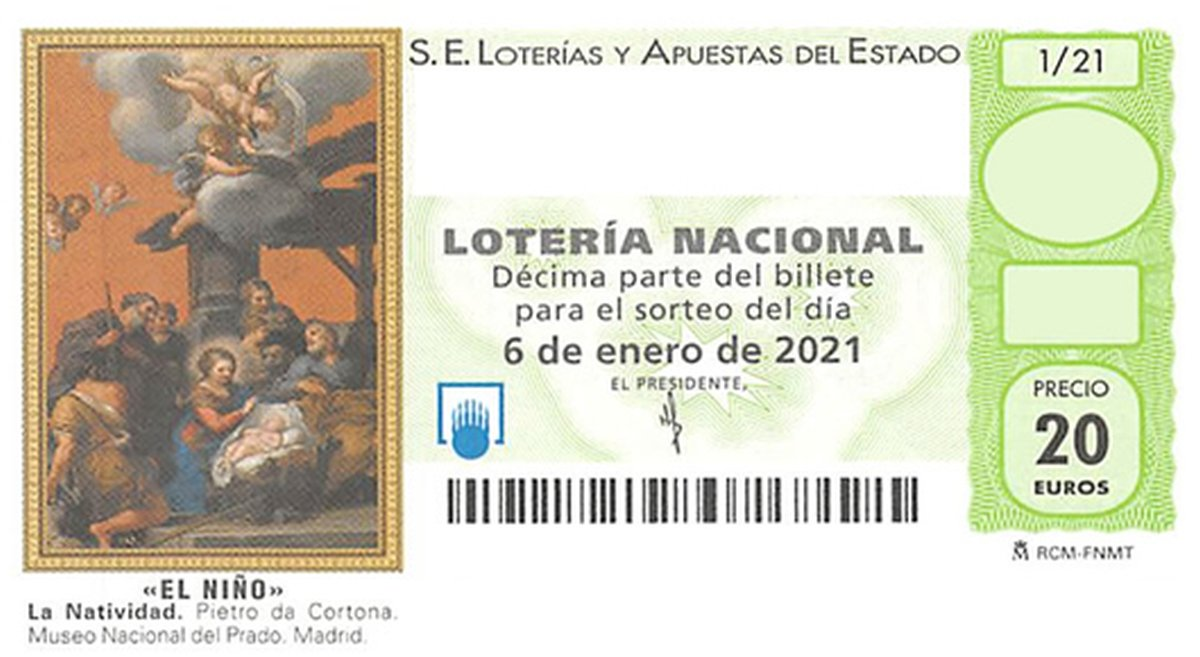 Localizar el décimo 58516 de Lotería del Niño 2021 en COPE.