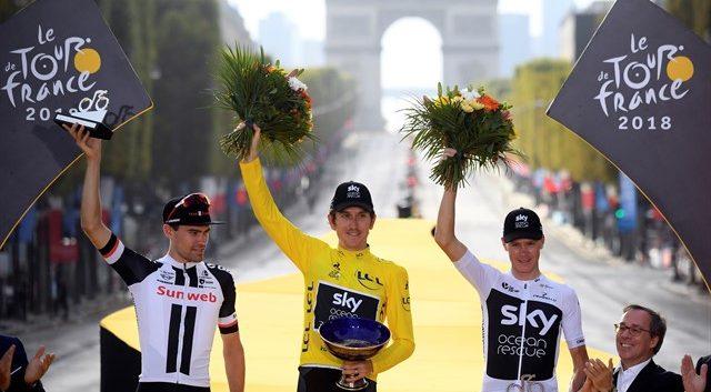 El trofeo de ganador del Tour de Francia ha sido robado después de que su poseedor, el británico Geraint Thomas, se lo cediese a los patrocinadores Pinarello para una exhibición en Birmingham