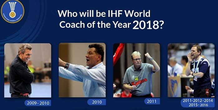 "Nominados para los Premios ""World Coach of the Year 2018"" de la IHF"