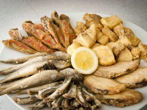 variedad de pescados
