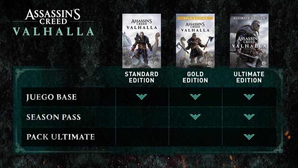 Todas_ediciones_Assassin's Creed Valhalla