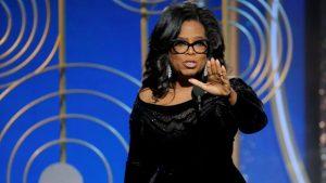 Oprah Winfrey durante su discurso en los Globos de Oro