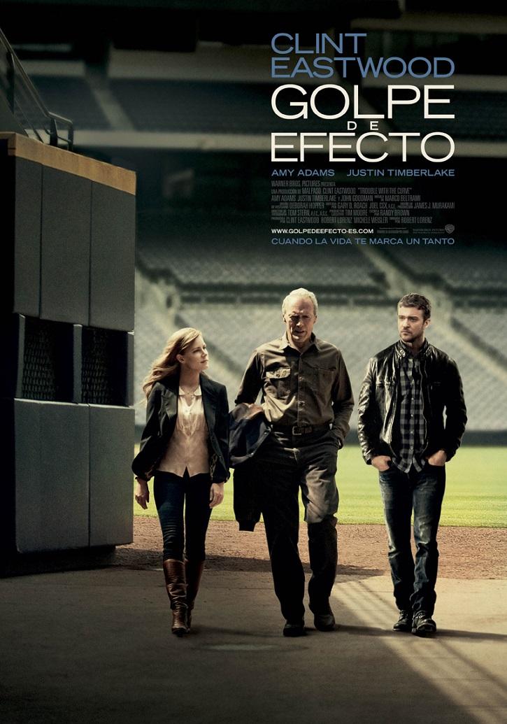 Cartel promocional del filme Golpe de efecto, hasta ahora último trabajo actoral de Clint Eastwood