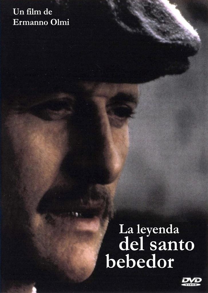 Cartel promocional del filme La leyenda del santo bebedor, del cineasta italiano Ermanno Olmi