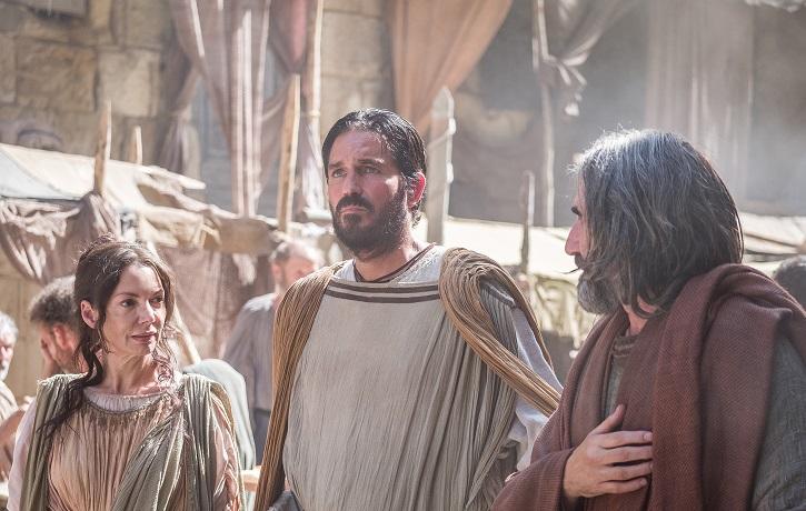 Fotograma del filme Pablo, el apóstol de Cristo, con Jim Caviezel
