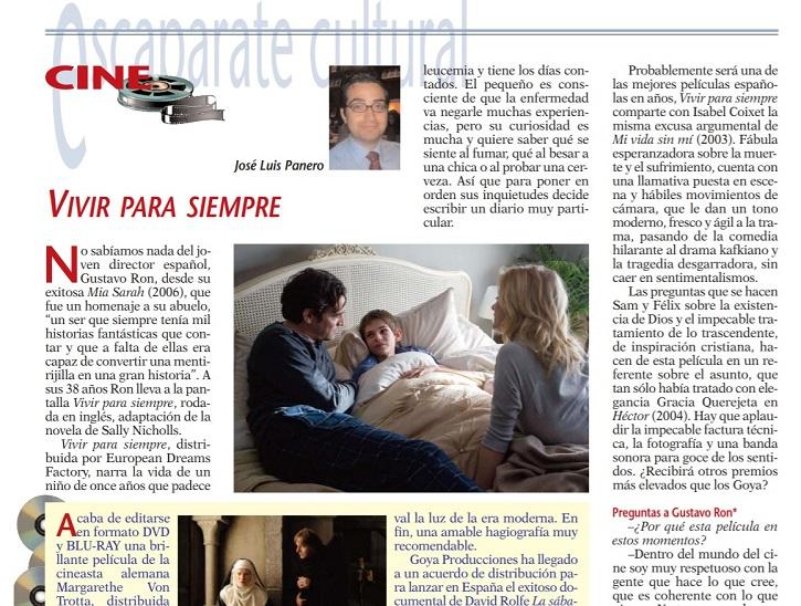 Primera parte de la crítica del filme Vivir para siempre, de Gustavo Ron