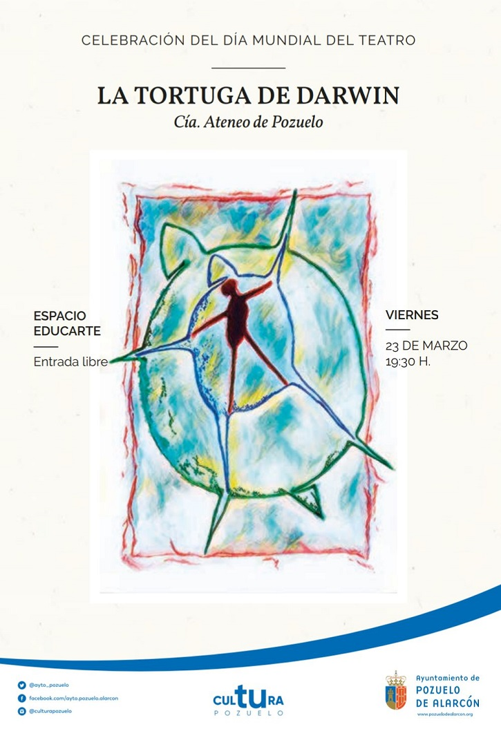 Cartel promocional de 'La tortuga de Darwin' (Juan Mayorga), nuevo montaje teatral a cargo del Ateneo de Pozuelo