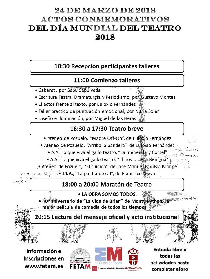 Programa de actos del Día Mundial del Teatro en Moralzarzal