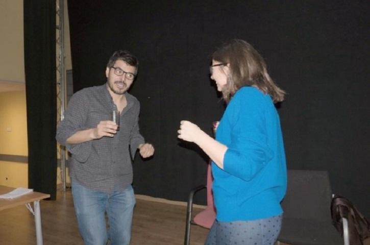 Un día de ensayo con Jerónimo y Cristina