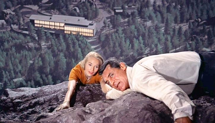 Eva Marie Saint y Cary Grant en Con la muerte en los talones. Hitchcock hacía milagros cuando Dios no estaba en el rodaje