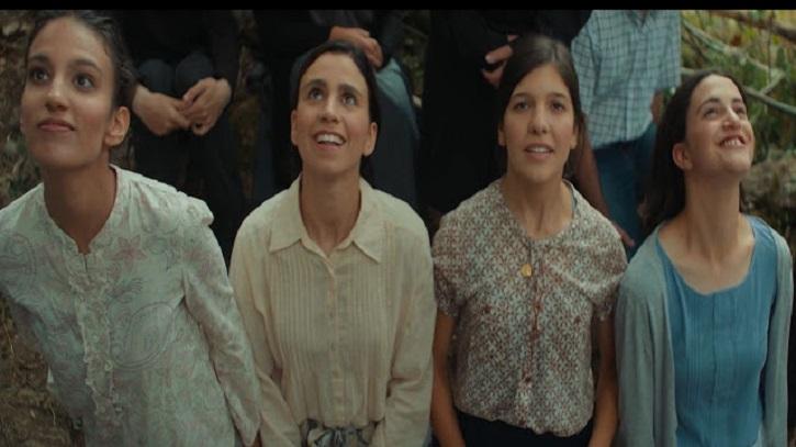 Fotograma del filme Garabandal, sólo Dios lo sabe, con las cuatro videntes. Ya a la venta la banda sonora