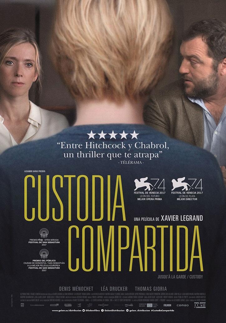 Cartel promocional del filme francés, Custodia compartida, opera prima de Xavier Legrand