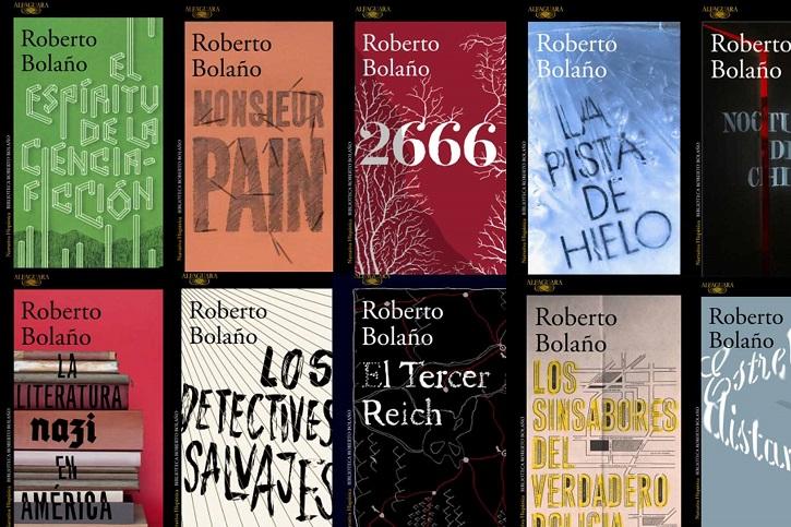 Amplio catálogo de la editorial Alfaguara con textos de Roberto Bolaño