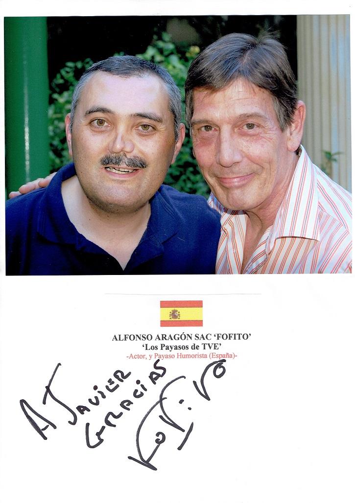 El humorista Alfonso Aragón y el crítico de cine Javier García