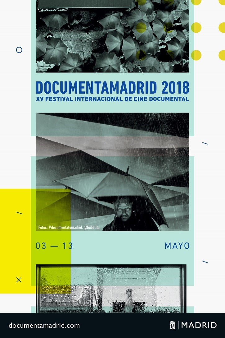 Cartel promocional de DocumentaMadrid 2018. XV Festival Internacional de Cine Documental