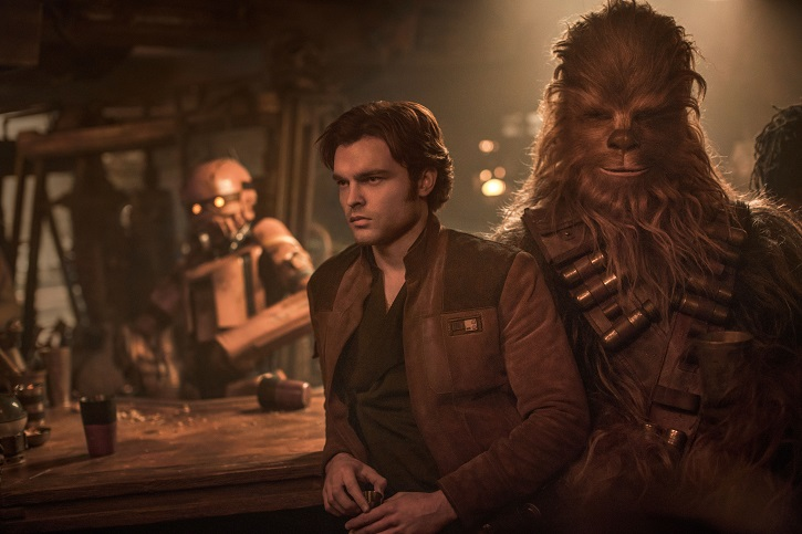 Alden Ehrenreich is Han Solo and Joonas Suotamo is Chewbacca in SOLO: A STAR WARS STORY | 'Han Solo' divide a la galaxia Star Wars