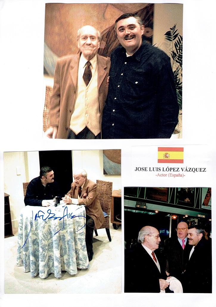 El actor José Luis López Vázquez y el crítico de cine Javier García