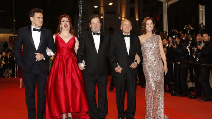 Matt Dillon, Siobhan Fallon Hogan, Lars von Trier, Bruno Ganz y Sofie Grabol en Cannes | The House That Jack Built: impertinente Von Trier en Cannes