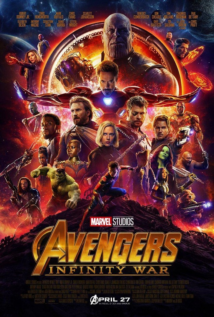 Cartel promocional de Vengadores: Infinity War | 'Vengadores: Infinity War', nº1 en taquilla en España