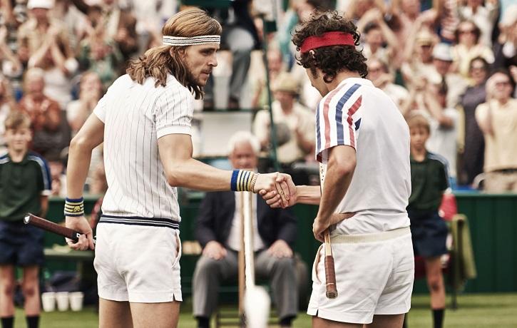 Sverrir Gudnasson y Shia LaBeouf en Borg vs McEnroe: Janus Metz tensa la leyenda de Wimbledon