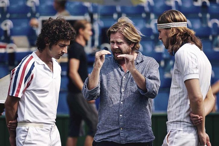 El director danés Janus Metz entre Shia LaBeouf y Sverrir Gudnasson