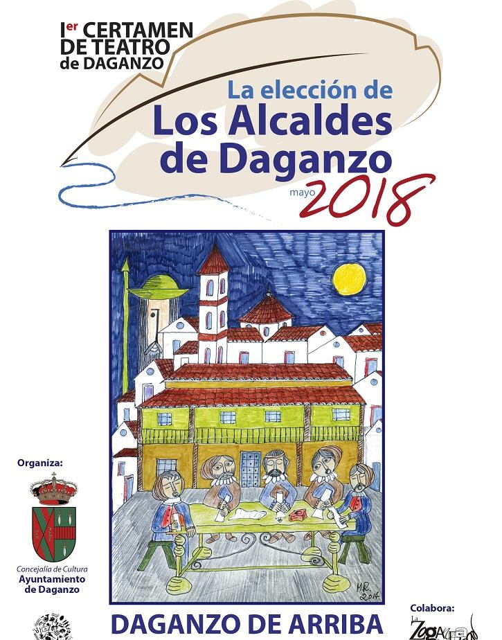 Otro cartel promocional del I Certamen de Teatro Aficionado de Daganzo