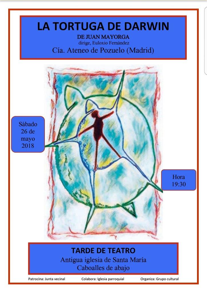Cartel promocional de La tortuga de Darwin, del dramaturgo Juan Mayorga, y representada por el grupo de teatro del Ateneo de Pozuelo a las órdenes de Euloxio Fernández | León acoge a La Tortuga de Darwin, representada por Ateneo de Pozuelo