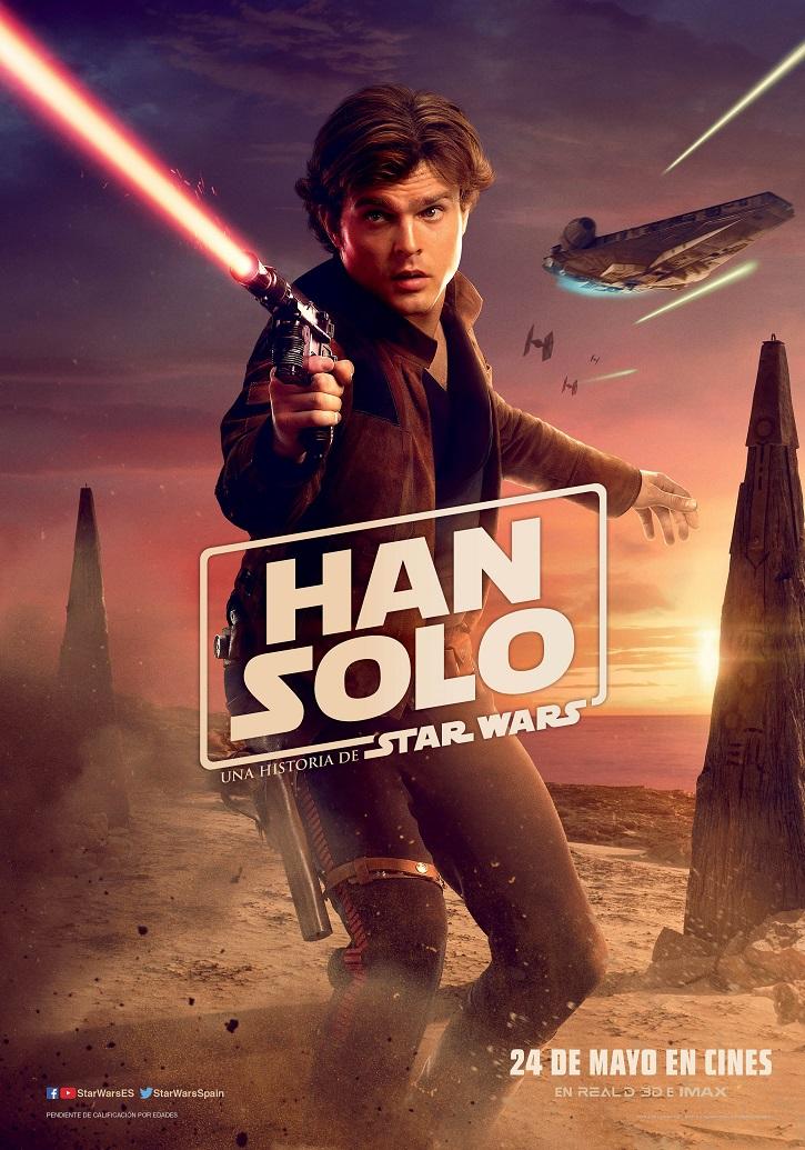 Uno de los posters del filme Han Solo: Una historia de Star Wars | 'Han Solo' divide a la galaxia Star Wars