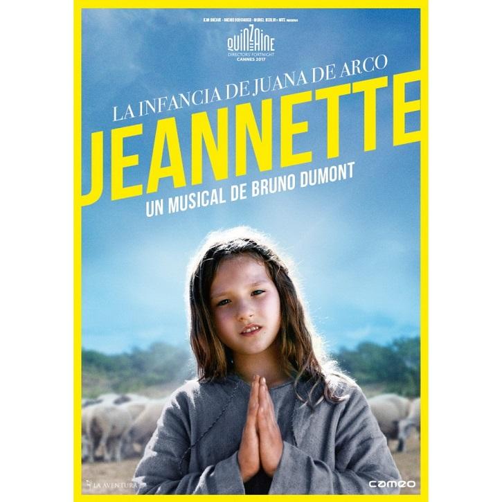 Cartel promocional de Jeannette, la infancia de Juana de Arco, de Bruno Dumont | Cameo lanza 'Sin amor' y 'Jeannette, la infancia de Juana de Arco'