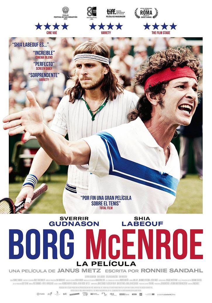 Cartel Borg vs McEnroe: Janus Metz tensa la leyenda de Wimbledon