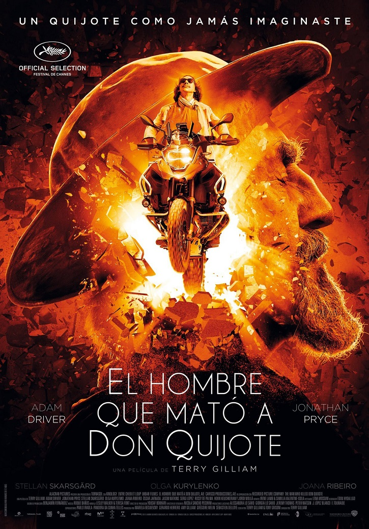 Cartel promocional del filme El hombre que mató a don Quijote | Cannes dice sí a El hombre que mató a Don Quijote