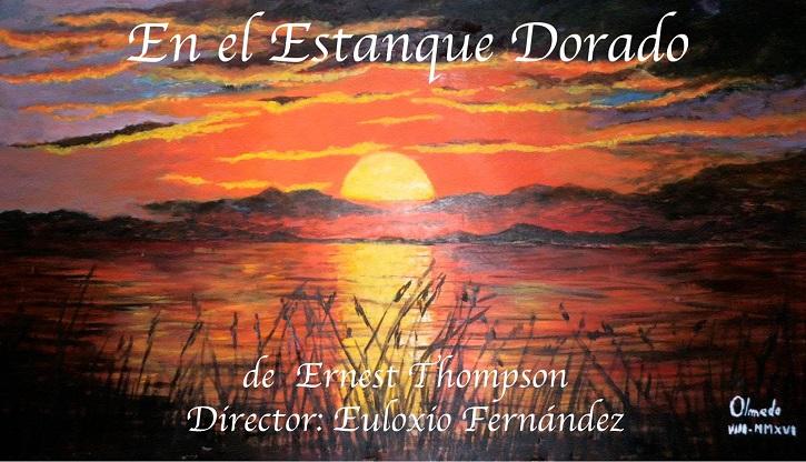 Cartel de la pieza teatral En el estanque dorado | Daganzo premia el trabajo de los actores Milagros Morón y Luis Higueras