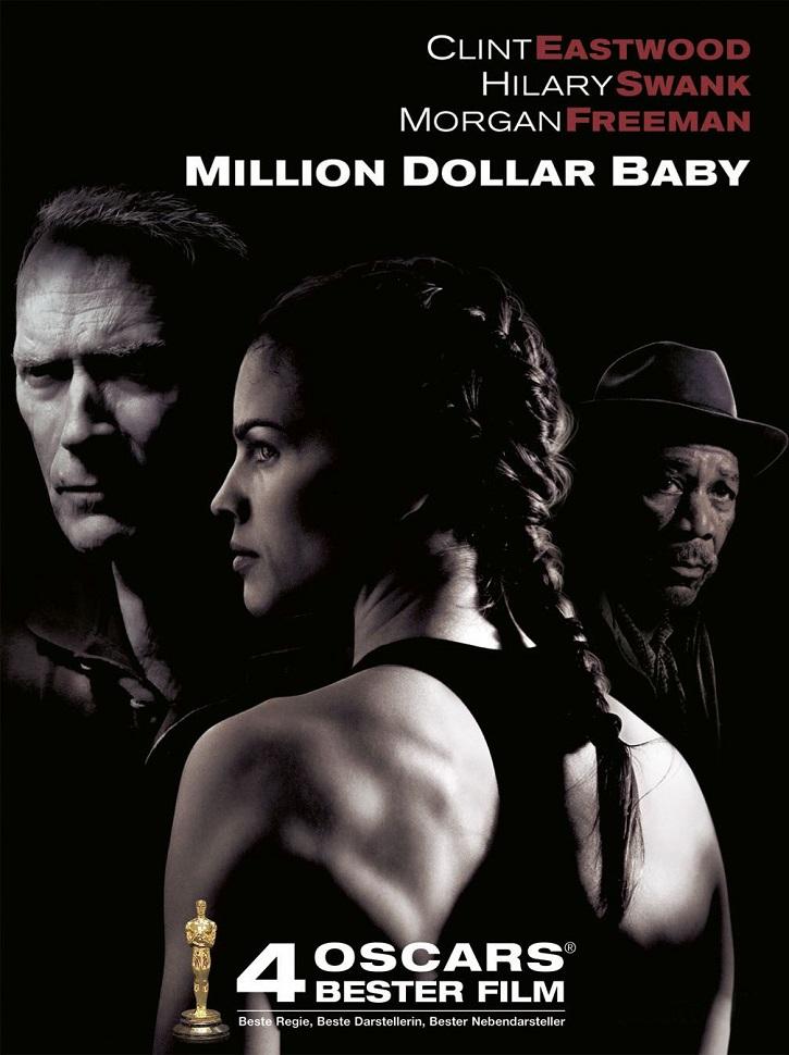 Cartel promocional del filme americano Million dollar baby | La eutanasia de Sánchez reaviva el debate en el cine