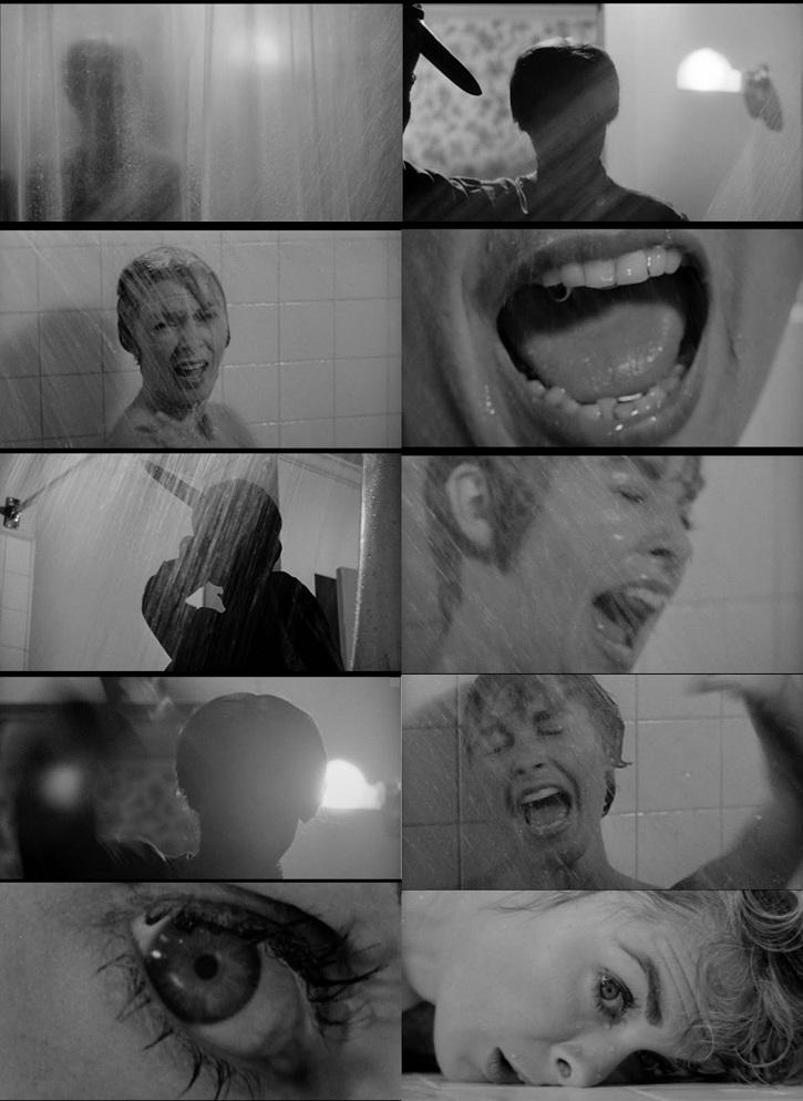 Sucesión de planos correspondientes a la ejecución de Marion Crane | La ducha de Psicosis (Alfred Hitchcock) cambió el cine