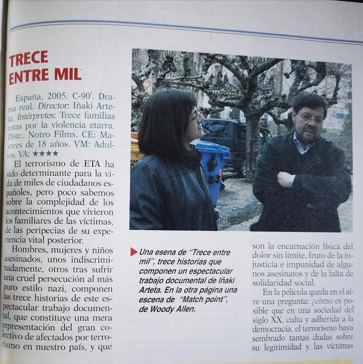 Crítica de la película Trece entre mil, de Iñaki Arteta | El cine dedica '48 horas' a Miguel Ángel Blanco