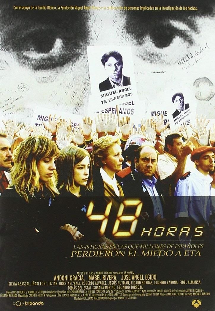 Cartel promocional de la miniserie televisiva 48 horas | El cine dedica '48 horas' a Miguel Ángel Blanco