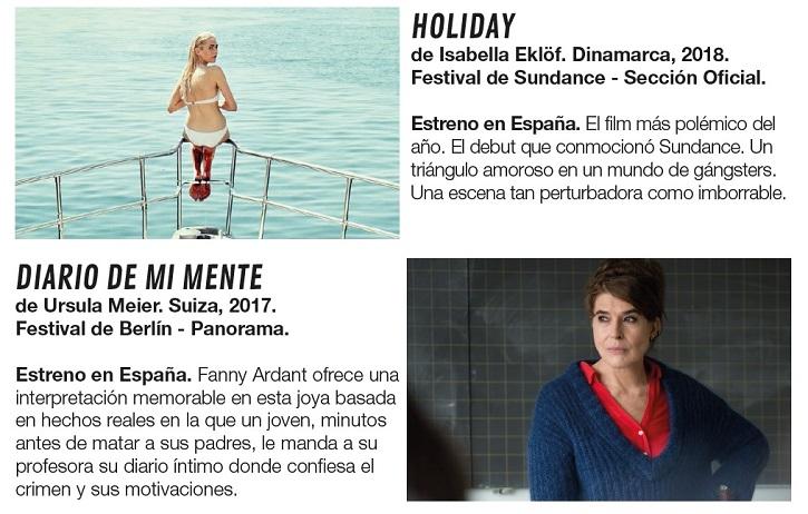 Descripción argumental de los filmes Holiday y Diario de mi mente | Atlàntida Film Fest crece en espectadores un 41,5%