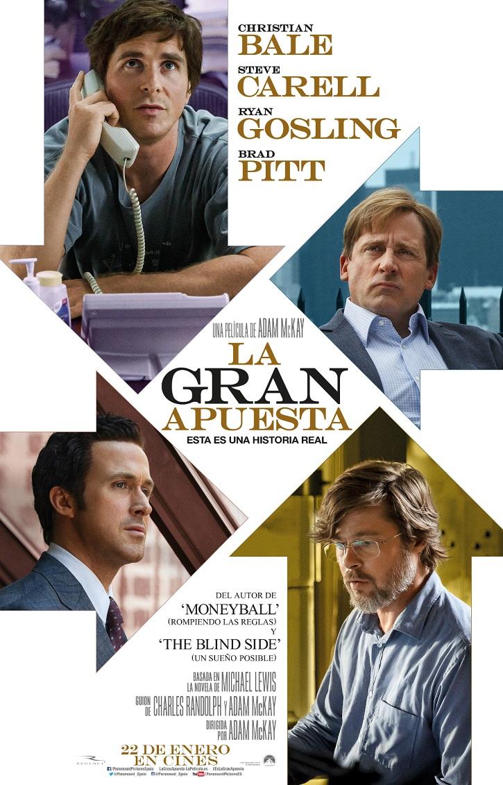 Cartel promocional del filme La gran apuesta | Linda Seger publica 'El secreto del mejor cine' en Rialp