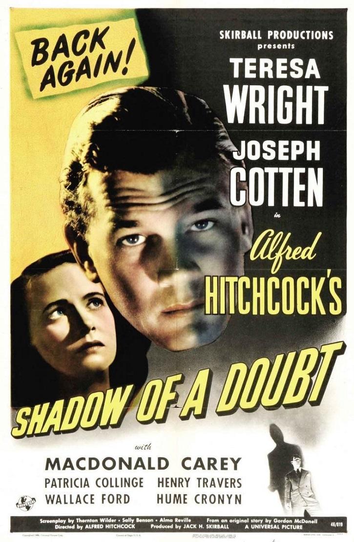 Cartel promocional de La sombra de una duda | Linda Seger publica 'El secreto del mejor cine' en Rialp