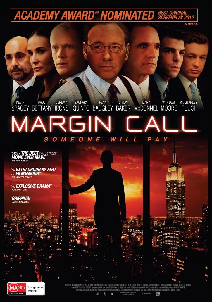 Cartel promocional del filme Margin call | ¿Por qué el cine se apunta a la ética económica?