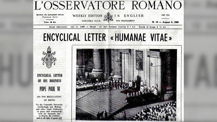 Publicación en prensa de la Humanae Vitae | Goya Producciones lanza documental: 'Las profecías de la Humanae Vitae'